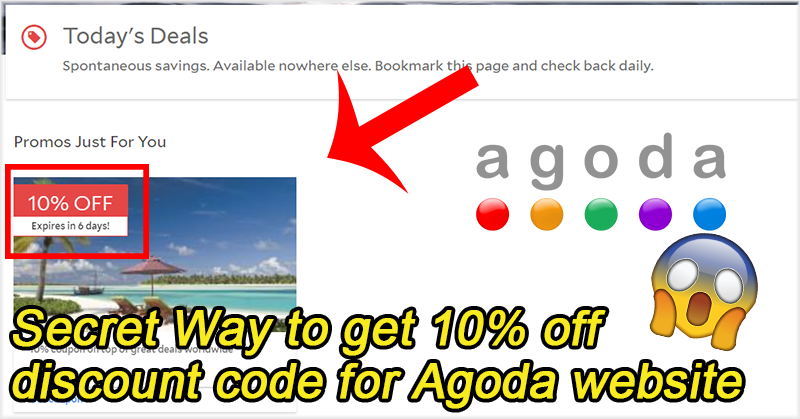 Secret Way to get 10% off discount code for Agoda website